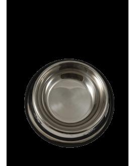 Comedouro de inox anti derrapante grande liso