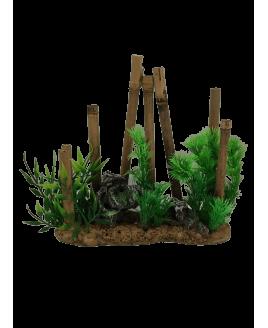 Decoração para Aquário Bambu
