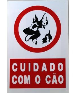 """Sinalização Plástica """"Cuidado com o Cão"""""""