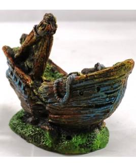 Decoração para Aquário Barco Naufrágio