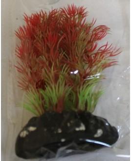 Planta Plástica para Aquário 10 - 13 cm vermelho