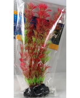 Planta Plástica para Aquário 20 cm vermelho